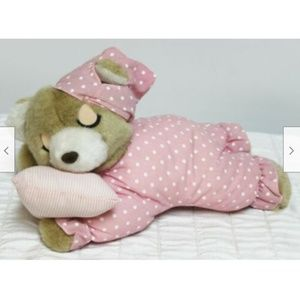 Other - Vtg 90s Pink Bedtime Bear Electronic Snoring Plush